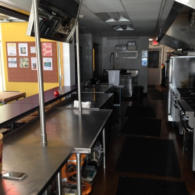 a view of the line at Midway Community Kitchen